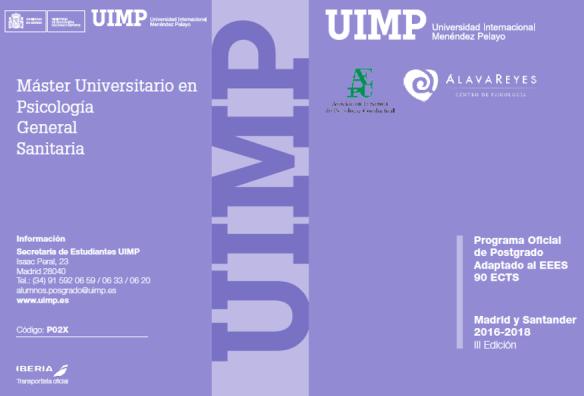 Máster Universitario en Psicología General Sanitaria de la UIMP